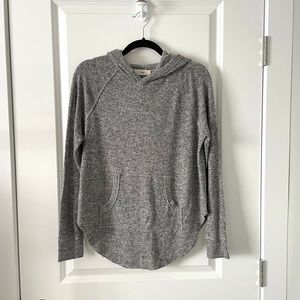 ARITZIA / TNA / GREY HOODED PULLOVER SWEATER